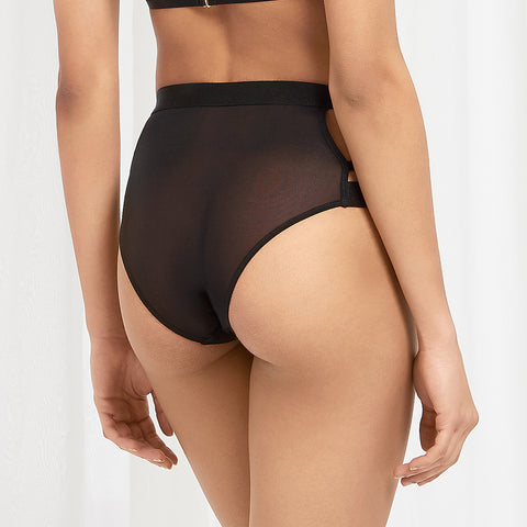 Bree High-Waist Brief Black