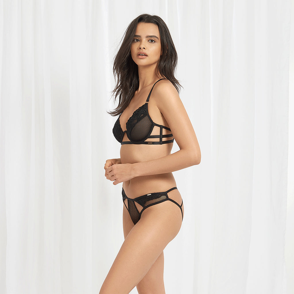Alma Open back Brief Black