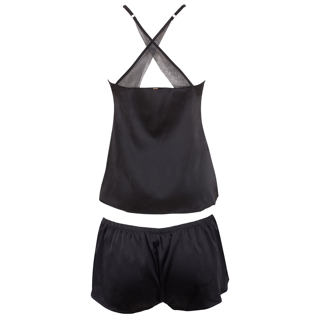 Indy Cami & Short Set Black/Cordovan