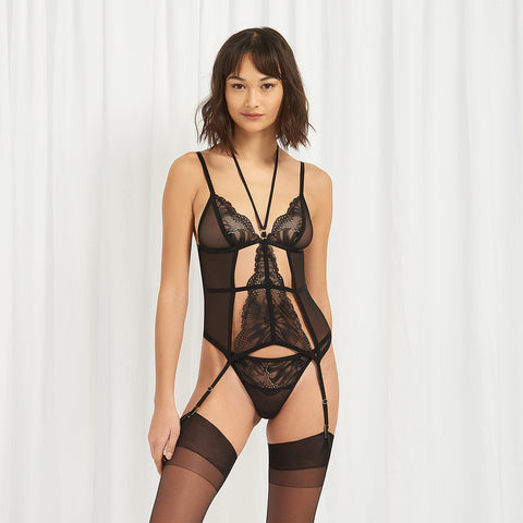 Anastasia Soft Basque Black