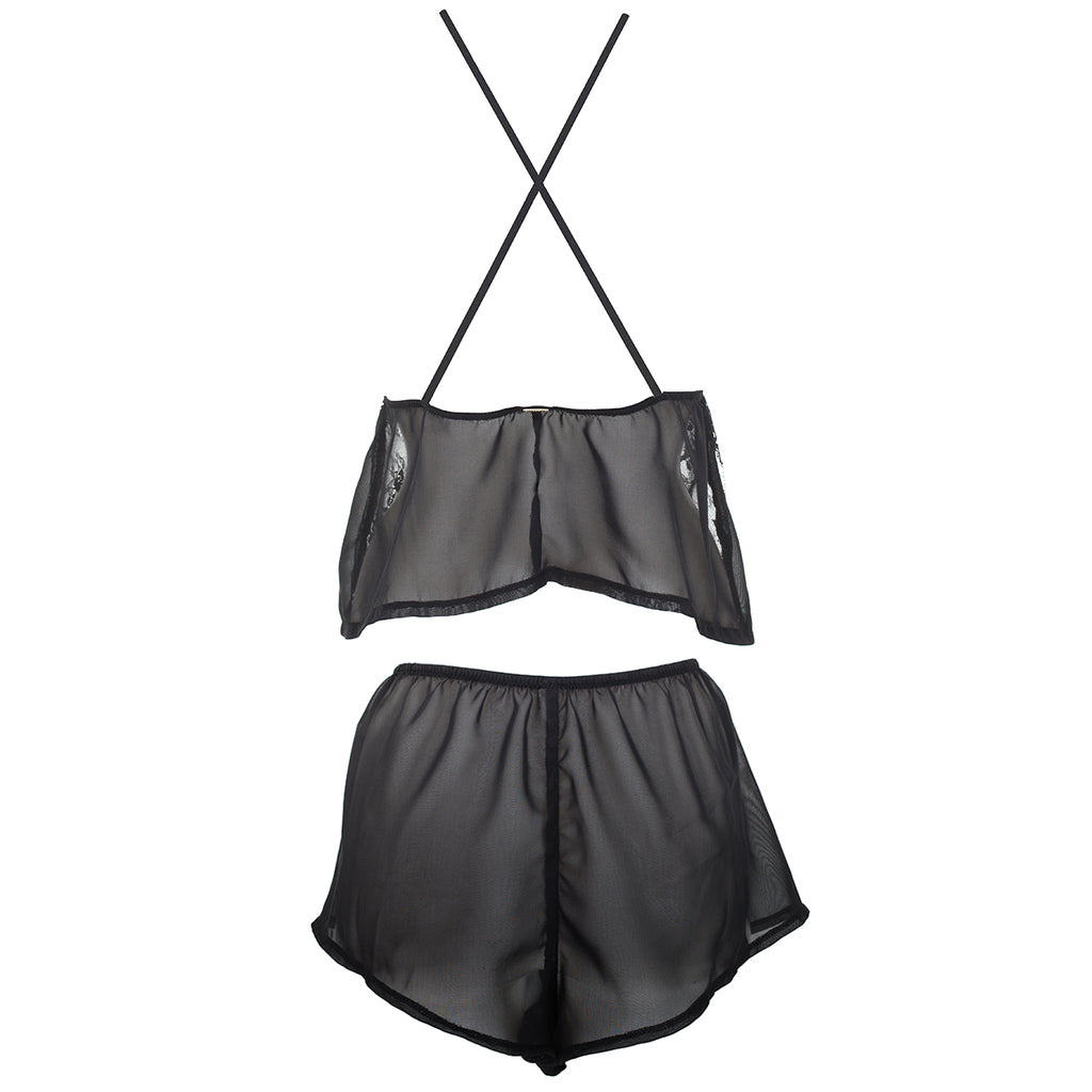 Eloisa Cami and Short Set Black