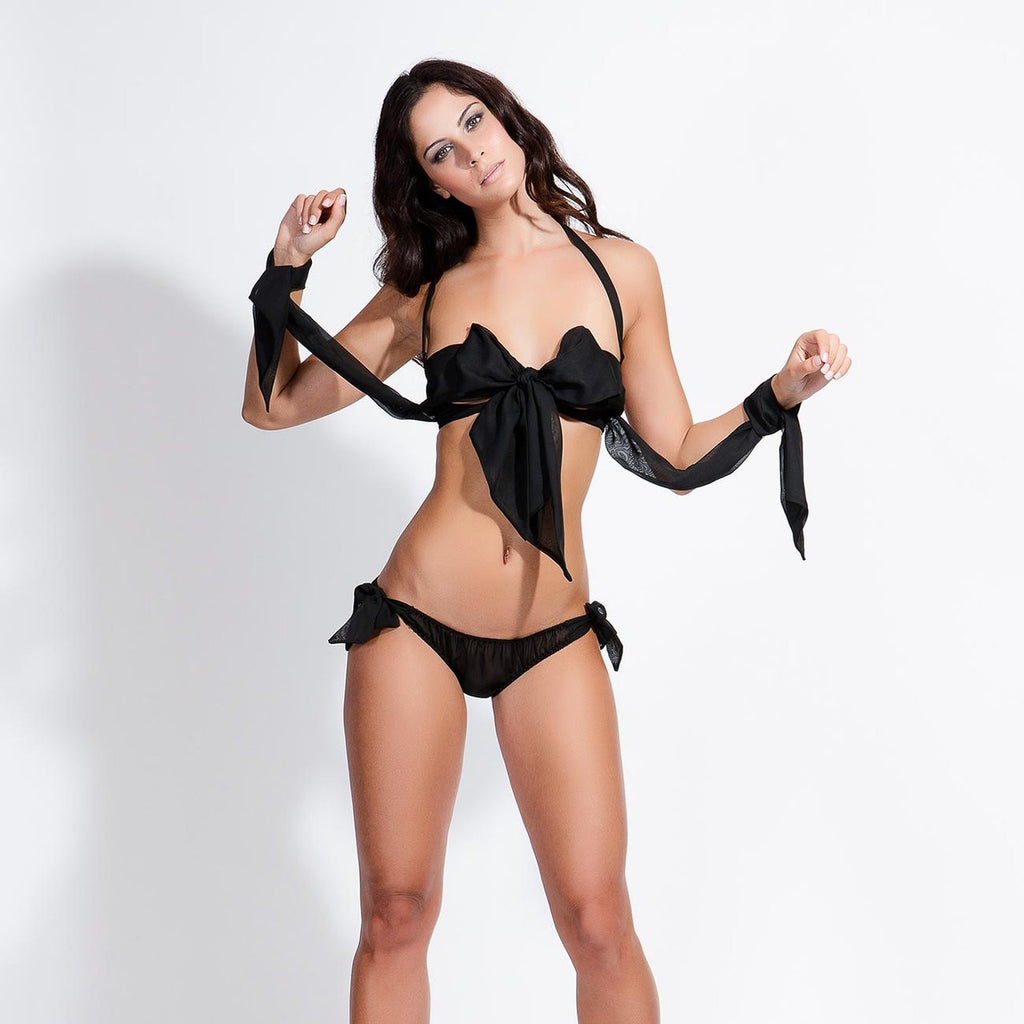 Ariana Chiffon Tie Bra and Brief Set