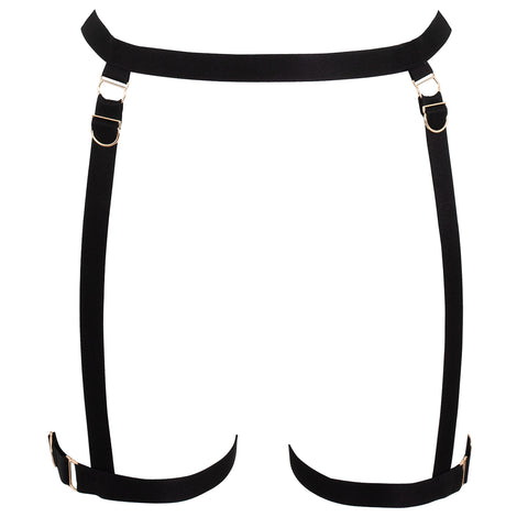 Thea Thigh Harness Black