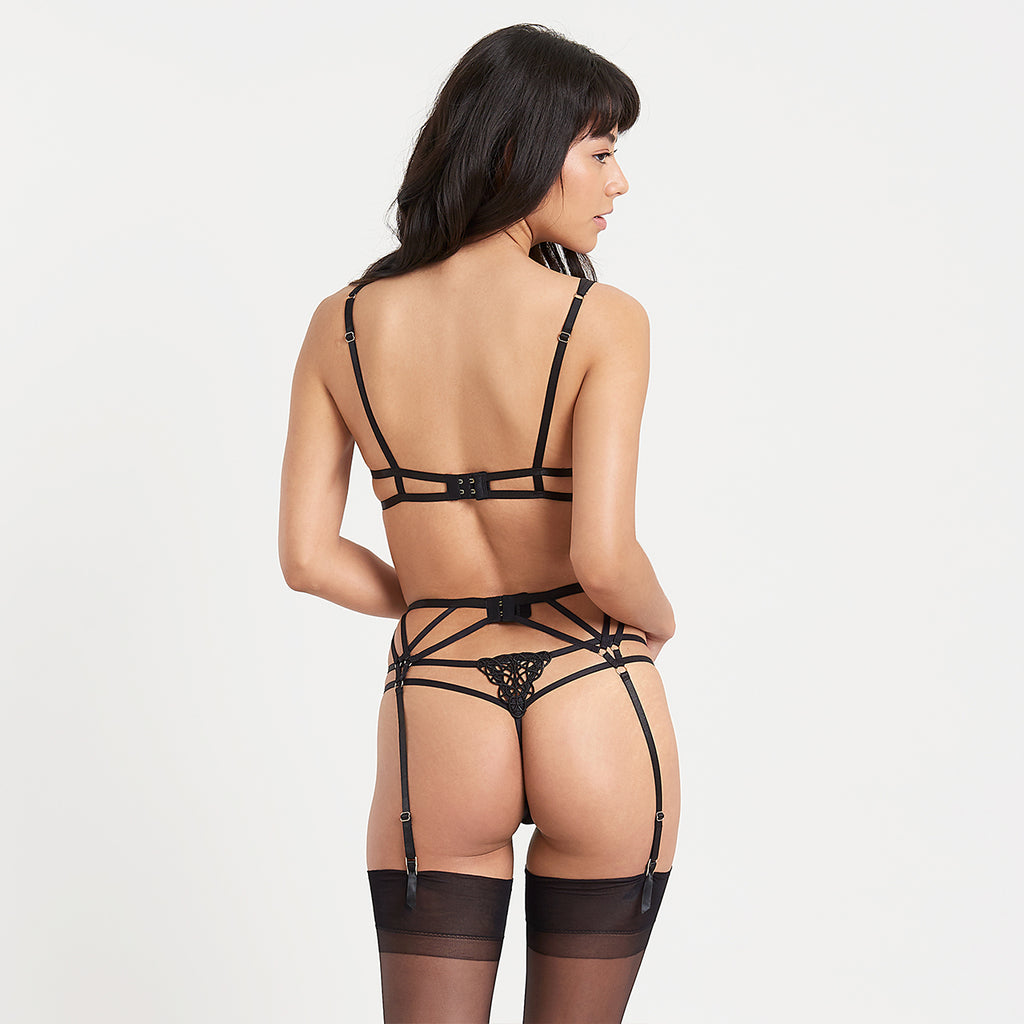 Simone Suspender Black