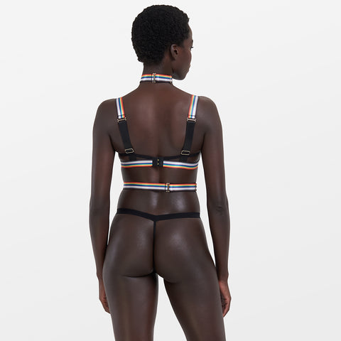 Marlowe Harness Black/Rainbow