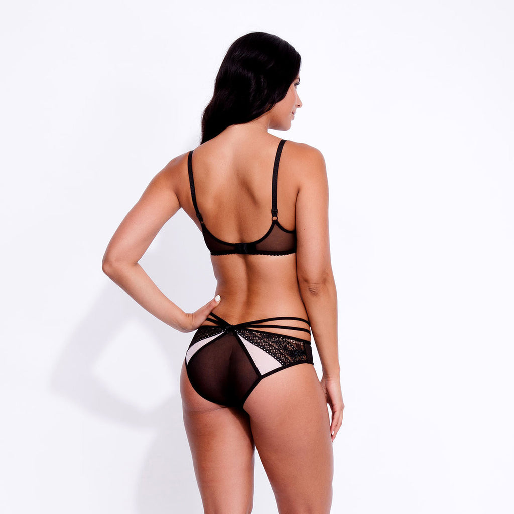 Lexi Brief Black/Pink