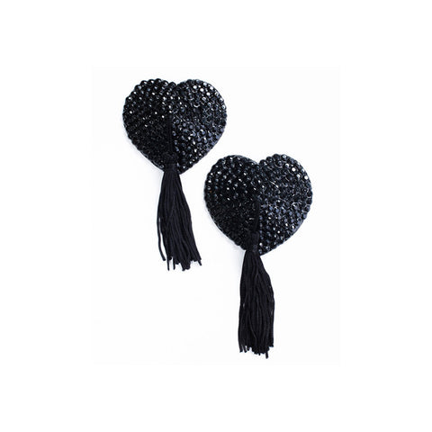 Crystal Nipple Tassels Black