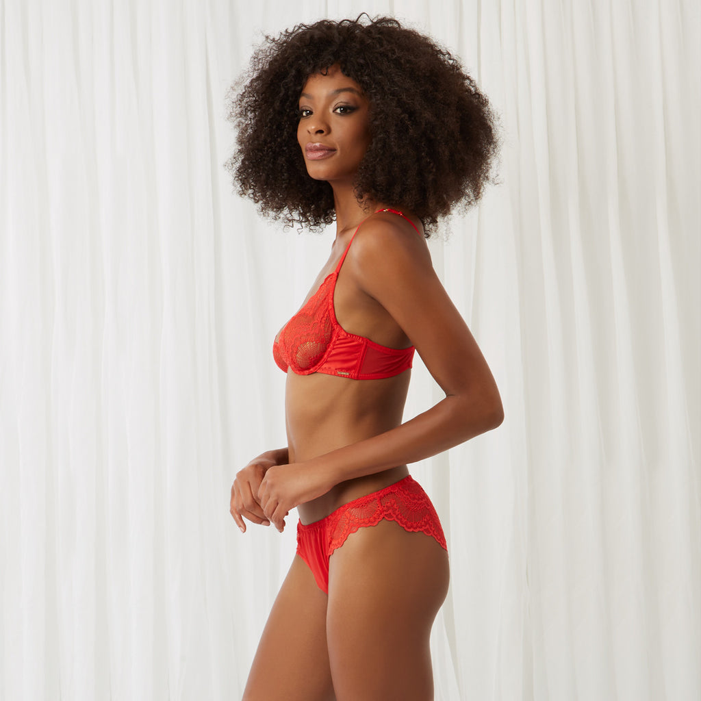 Ella Plunge Bra Red