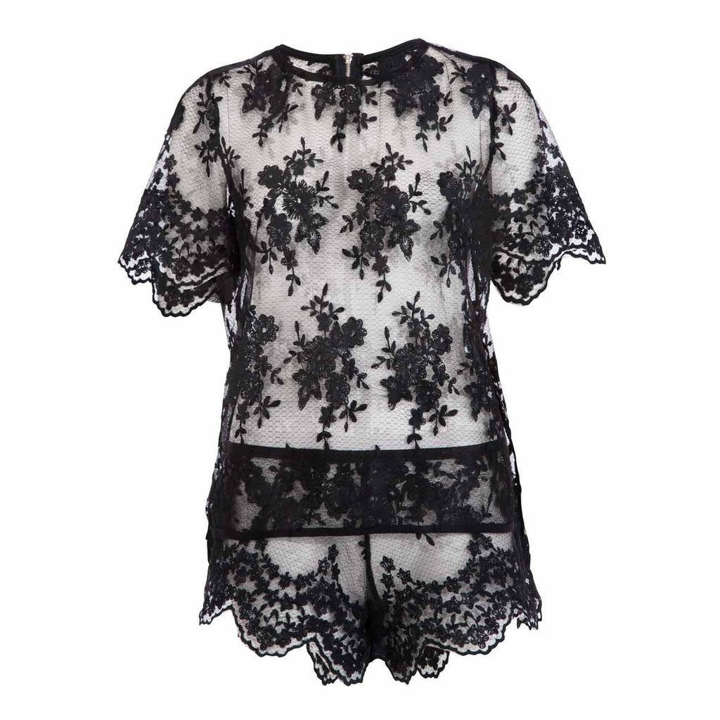 Julianna Top and Short Black