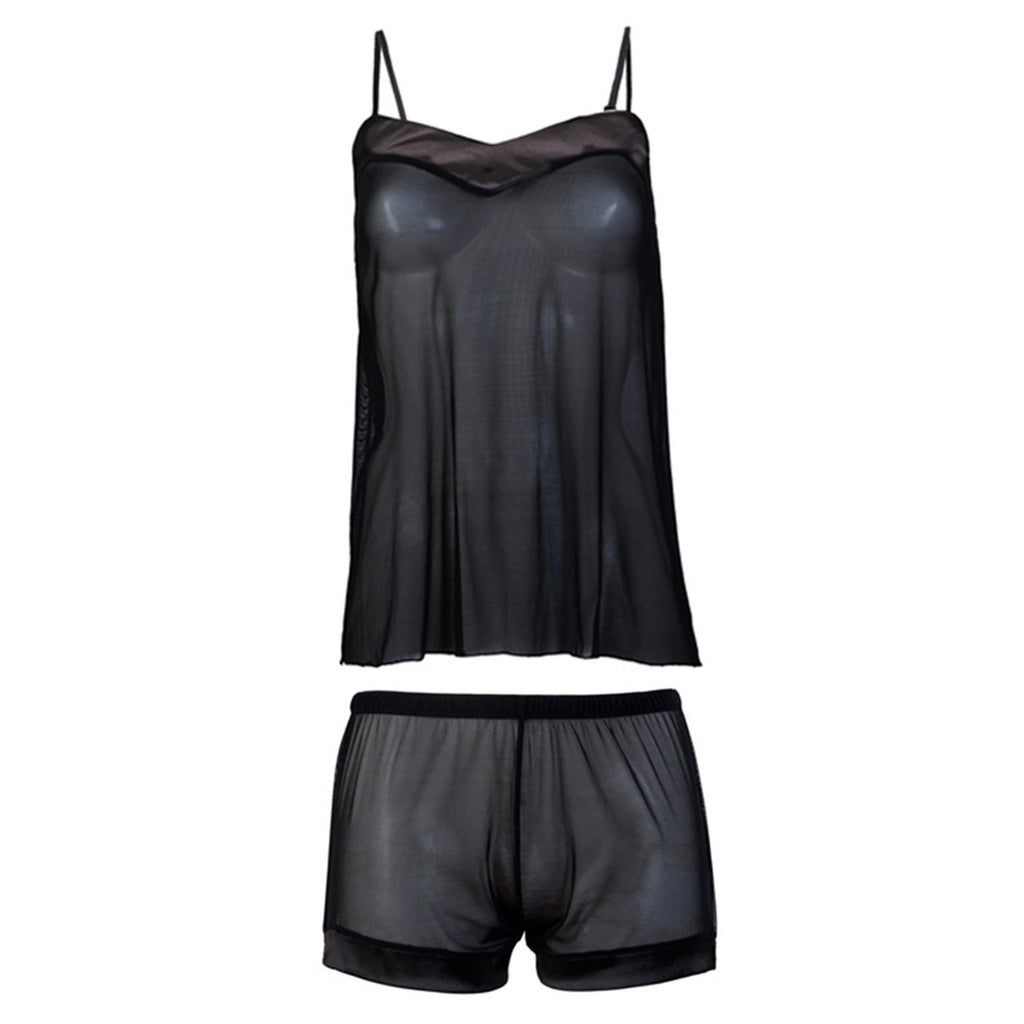 Georgia Cami and Shorts Set Black