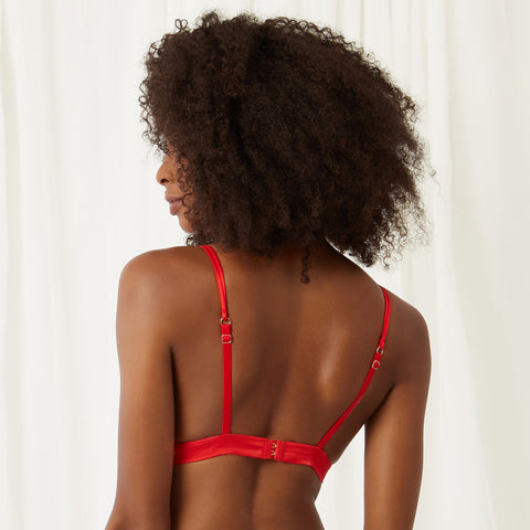 Ella Soft Cup Bra Red