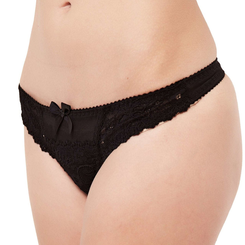 Brooke Thong Black