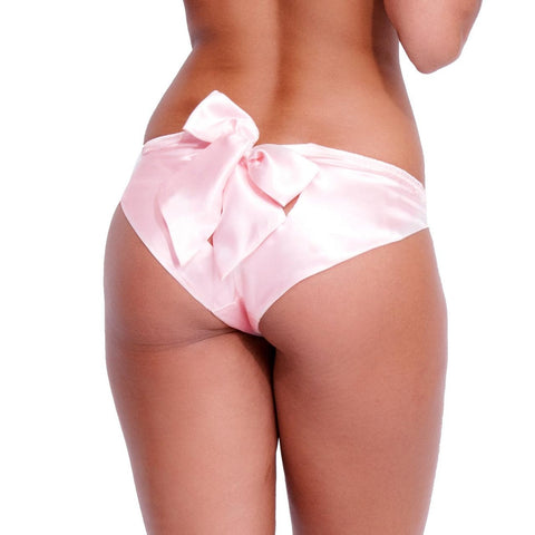 Bow Back Knickers Pale Pink