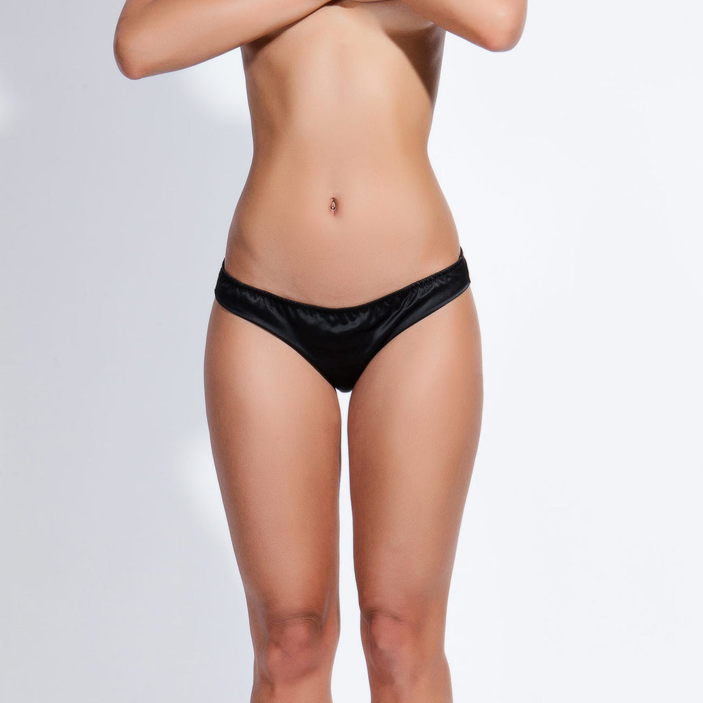 Bow Back Knickers Black