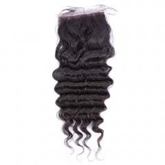 Transparent 4x4 Deep Wave Lace Closures