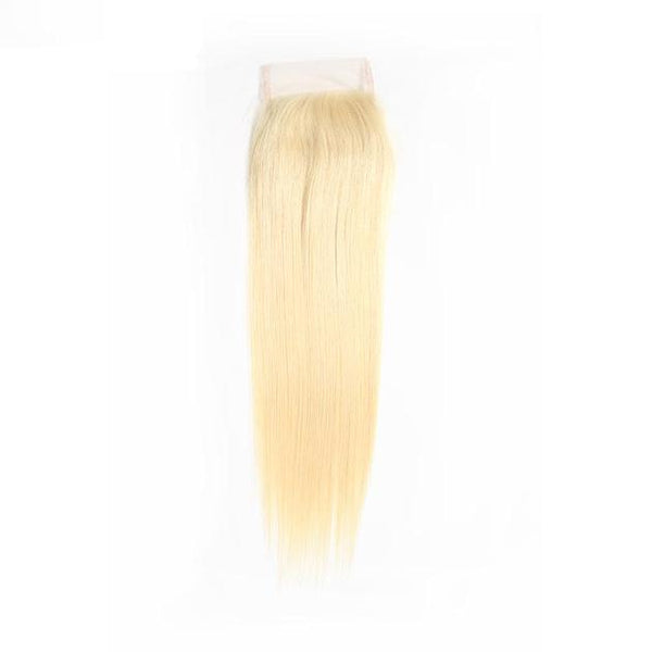 Transparent 4x4 Blonde Straight Lace Closures