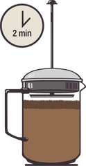 French Press Coffee Brewing Guide Step 8 - Picacho Coffee Roasters