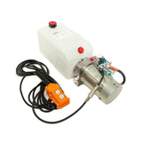 6 Quart - 12V Single Acting Hydraulic Dump Trailer Pump - Poly Reservoir