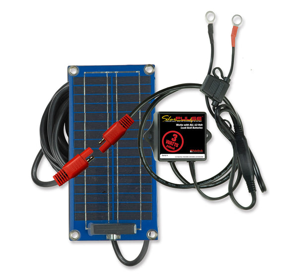 SolarPulse 3-Watt Solar Battery Charger & Maintainer