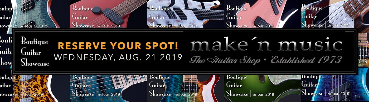 Boutique Guitar Showcase Returns to Make'n Music in 2019