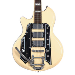 Airline Guitars '59 Town & Country DLX LEFTY - Vintage Cream - Left Handed Deluxe Reissue Electric Guitar - NEW!