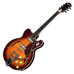 Airline Guitars H74 DLX - Honeyburst - Vintage Reissue Semi Hollow Electric Guitar - NEW!