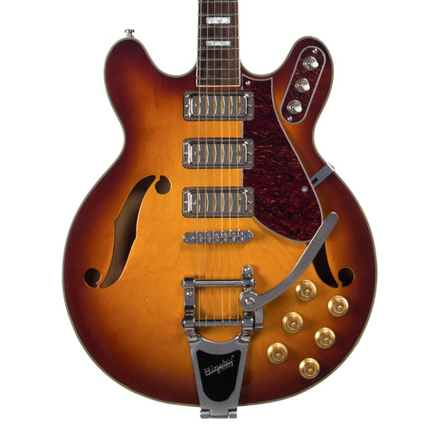 Airline Guitars H78 - Honeyburst - Vintage Reissue Semi Hollow Electric Guitar - NEW!
