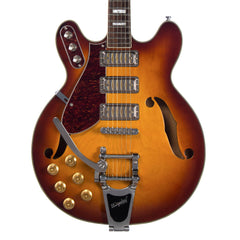 Airline Guitars H78 LEFTY - Honeyburst - Left-Handed Semi Hollow Electric Guitar - NEW!