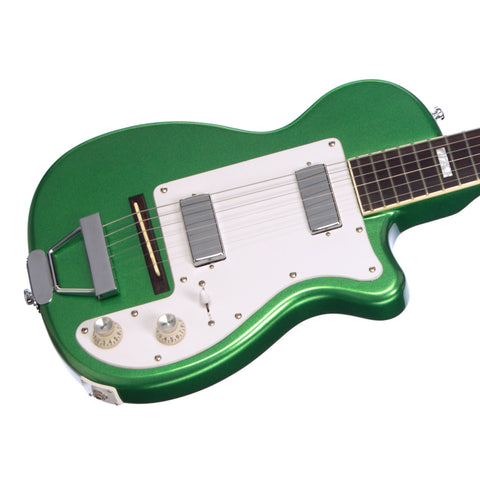 Airline Guitars H44 DLX - Metallic Green - Vintage Harmony style electric guitar - NEW!