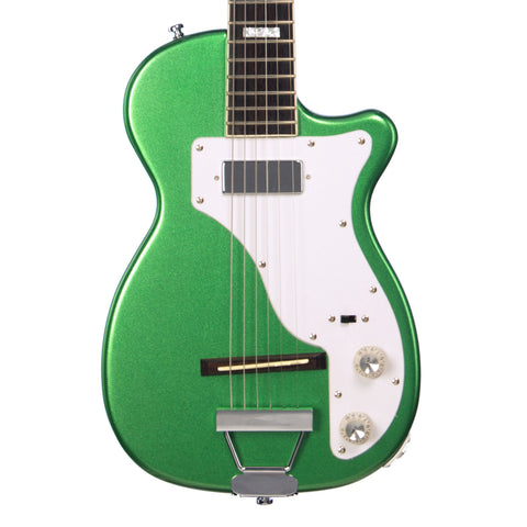 Airline Guitars H44 STD - Metallic Green - Vintage Harmony style electric guitar - NEW!