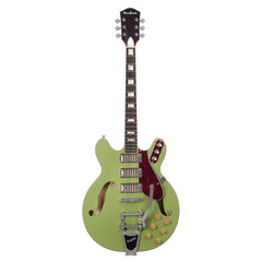 Airline Guitars H78 - Satin Mint Green - Vintage Reissue Semi Hollow Electric Guitar - NEW!