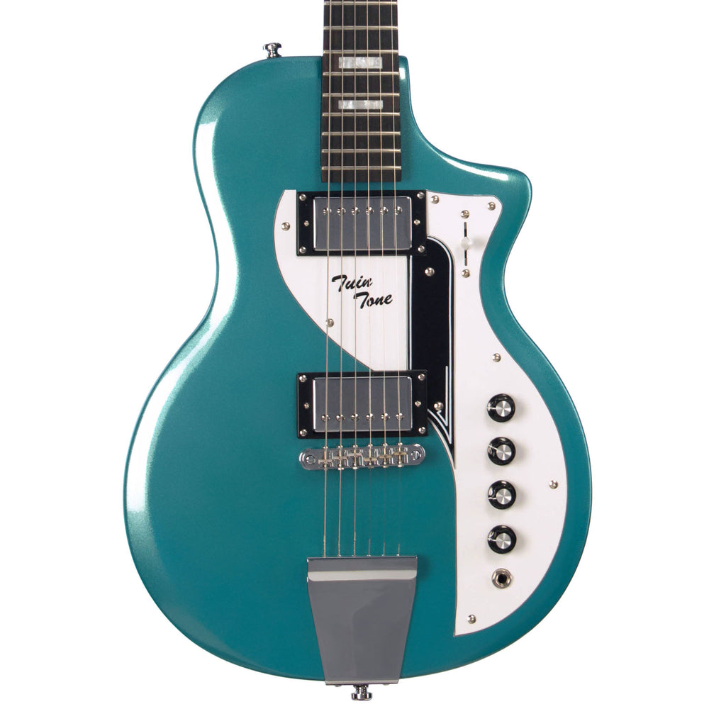 Airline Guitars Twin Tone - Metallic Blue - Supro Dual Tone Tribute Electric Guitar - NEW!
