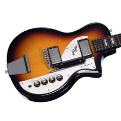 Airline Guitars Twin Tone - The Duke Signature - Sunburst - Flame Top Solidbody Electric Guitar - NEW!