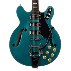 Airline Guitars H78 - Metallic Blue - Vintage Reissue Semi Hollow Electric Guitar - NEW!