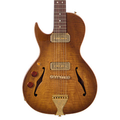 B&G Guitars Little Sister LEFTY Crossroads Cutaway P-90 Honey Burst - LSLHCPHB - Left-Handed Semi-Hollow Electric Guitar - NEW!