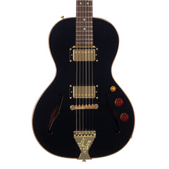 B&G Guitars Little Sister Crossroads Non-Cutaway Humbucker - Midnight Ocean - LS-N-H-MO - Black Semi-Hollow Electric Guitar - NEW!
