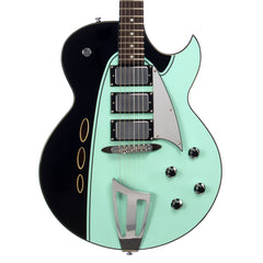 Backlund Guitars Rockerbox Ebony - Black / Mint - Semi Hollow Electric Guitar - NEW!