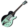 Backlund Guitars Rockerbox DLX Ebony - Black / Mint - Deluxe Semi Hollow Electric Guitar - NEW!