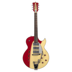 Backlund Guitars Rockerbox DLX Ebony - Red / Creme - Deluxe Semi Hollow Electric Guitar - NEW!