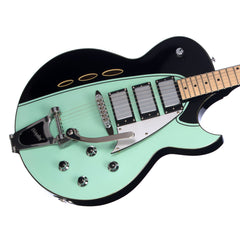 Backlund Guitars Rockerbox DLX - Black / Mint - Deluxe Semi Hollow Electric Guitar - NEW!