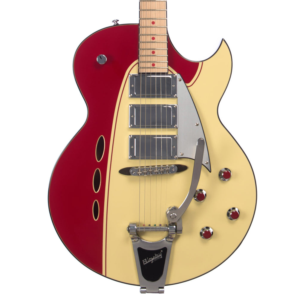 Backlund Guitars Rockerbox DLX - Red / Creme - Deluxe Semi Hollow Electric Guitar - NEW!