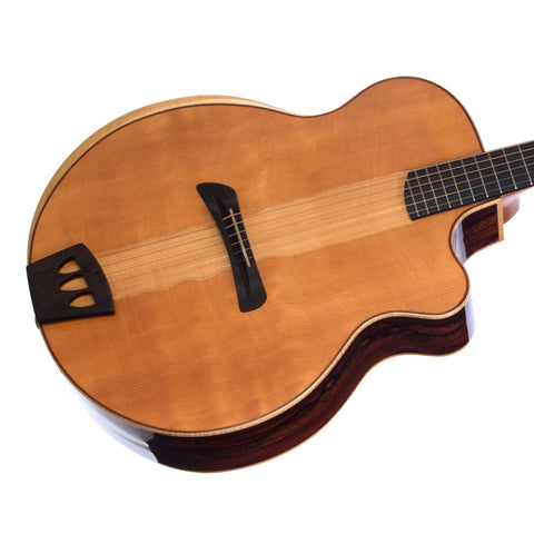 Batson Guitars Custom Shop Jumbo - Cloudy Cocobolo / Figured Douglas Fir - Custom Boutique Acoustic/Electric Guitar - NEW!