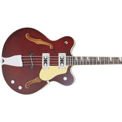 "Eastwood Guitars Classic 4 Bass - Walnut - 30"" Short Scale Semi-Hollow Body - NEW!"