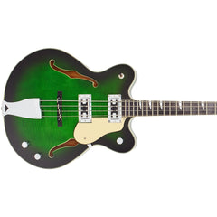 "Eastwood Guitars Classic 4 Bass - Greenburst - 30"" Short Scale Semi-Hollow Body - NEW!"