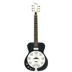 Airline Guitars Folkstar LEFTY - Black - Left Handed Electric / Acoustic Resonator Guitar - NEW!
