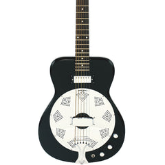 Airline Guitars Folkstar - Black - Electric / Acoustic Resonator Guitar - NEW!
