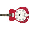 Eastwood Guitars Airline Folkstar Red Left Hand Closeup