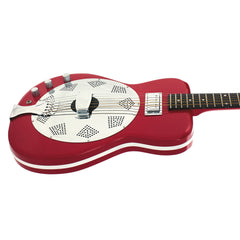 Airline Guitars Folkstar LEFTY - Red - Left Handed Electric / Acoustic Resonator Guitar - NEW!