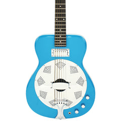 Airline Guitars Folkstar - Sky Blue - Electric / Acoustic Resonator Guitar - NEW!