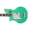 Eastwood Guitars Airline Map Bass Seafoam Green Left Hand Closeup